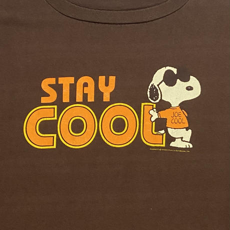 "90s PEANUTS ""STAY COOL"" t-shirt / size XL / made in USA"