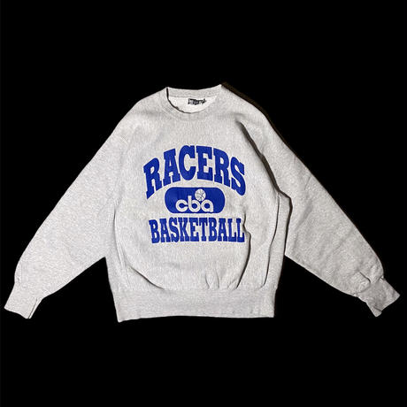 """RACERS BASKETBALL"" reverse weave type sweat / size L / made in USA"