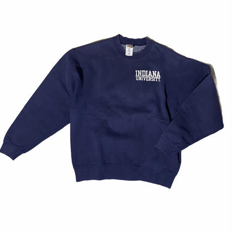 """Fruit of the loom"" super cotton sweat 'INDIANA UNIVERSITY' / size L / color:navy"