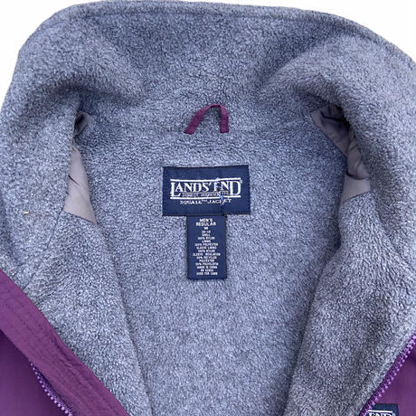 """LAND'S END """" warm up jacket"""" / size M / color:burgundy"""