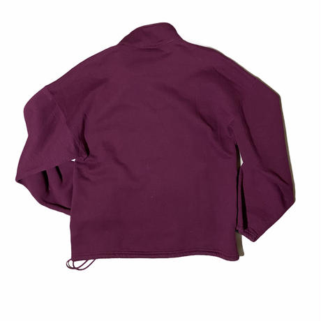 """""""Russell Athletic"""" half zip pullover sweat / size L / made in USA / color:maroon"""