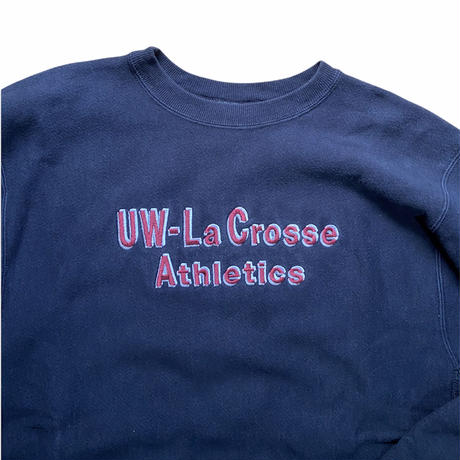"""Champion reverse weave """"UW-Lacrosse Athletics / made in MEXICO / size XL / color:black"""