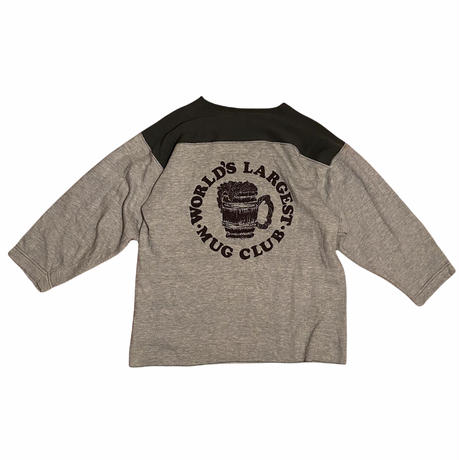 """80s """"3/4 cotton cut and sewn"""" / size 表記無し(fit like M)"""