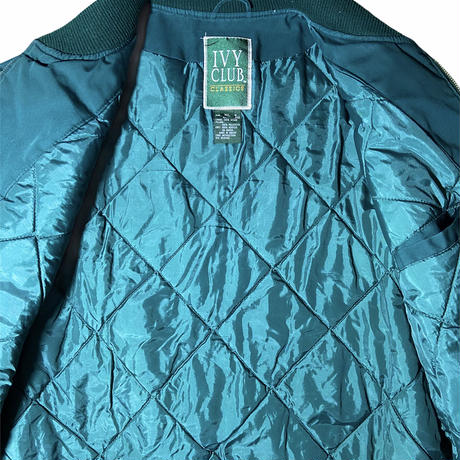 """""""IVY CLUB"""" insulated cup shoulder jacket / size XL / color:green"""