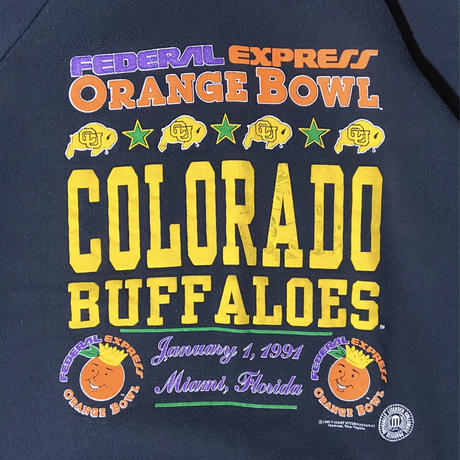 """The fruit of the loom """"COLORADO BUFFALOES"""" sweat / size XL / made in USA"""
