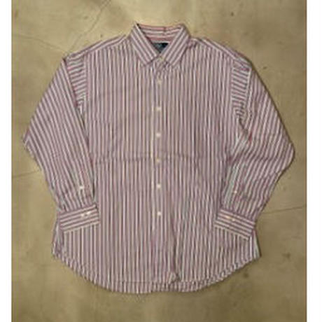 "Polo Ralph Lauren ""CURHAM CLASSIC FIT"" stripe L/S shirts / size 171/2(XL)"