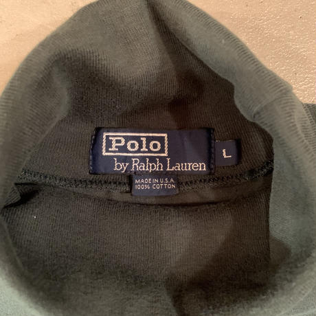 """Polo Ralph Lauren "" turtle neck long sleeve shirt / size L / made in USA"