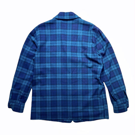 "60s ""Pendleton"" black watch wool taylor  jacket / size M"