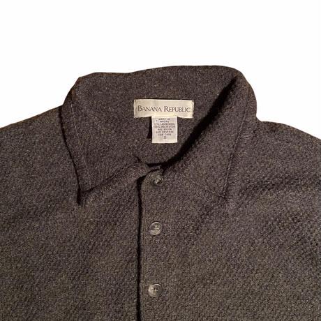 "BANANA REPUBLIC "" wool l/s polo shirt"" / size S (fit like M)"