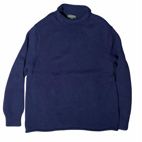 """J.CREW"" roll neck cotton sweater / size L / color:navy"