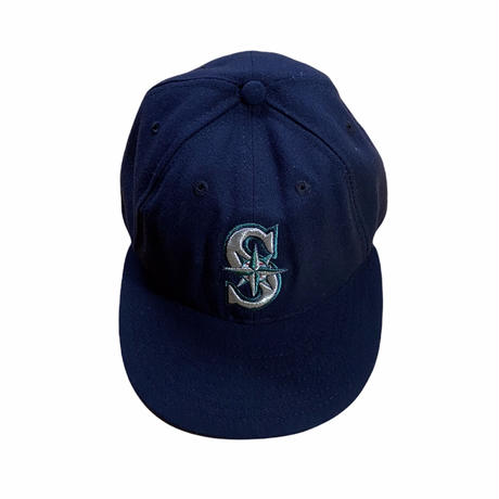 """""""NEW ERA""""Seattle Mariners MLB baseball cap / size 7 1/4(57.7cm) low crown / color:navy / made in USA"""