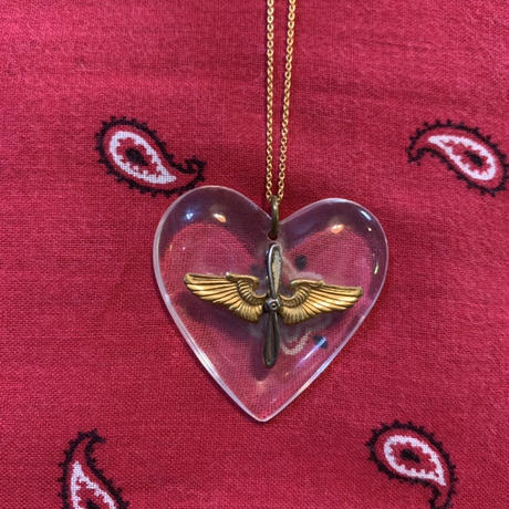 vintage heart necklace J/4