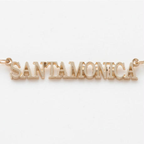 text necklace  -SANTAMONICA-