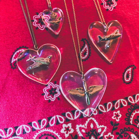 vintage heart necklace J/1