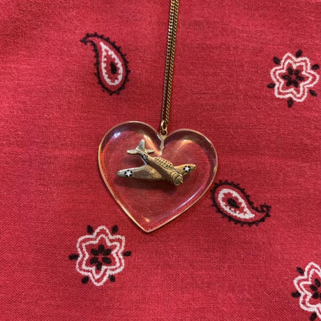 vintage heart necklace J/2