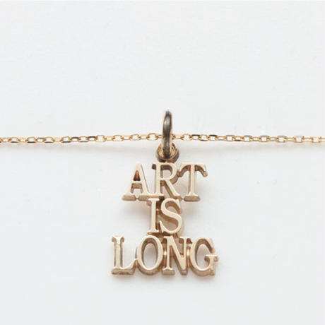 text necklace  -ART IS LONG-