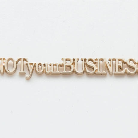 text necklace  -NOT your BUSINESS-