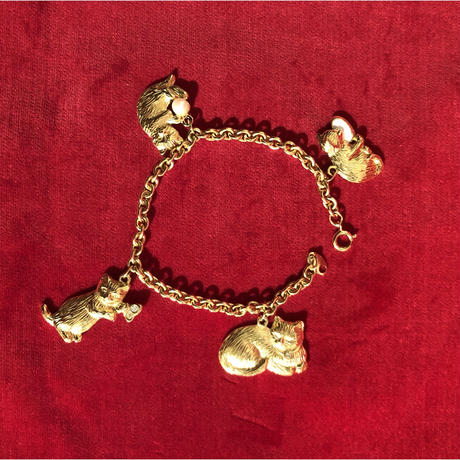 vintage cat bracelet #TNB033