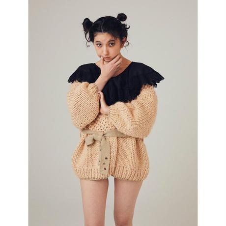 rurumu: × dearie dada / hand knit cardigan