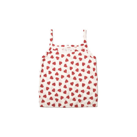 heart print camisole / rouge red