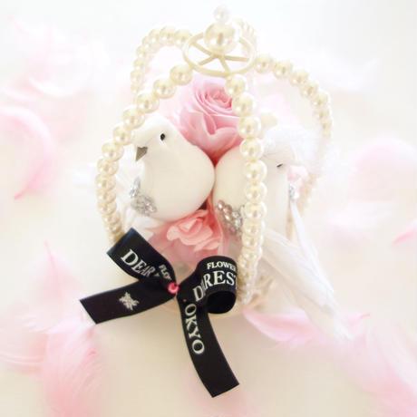 """NATURAL  """"chance""""(PINK)♡結婚祝い♡幸せを願う小鳥のアレンジ"""