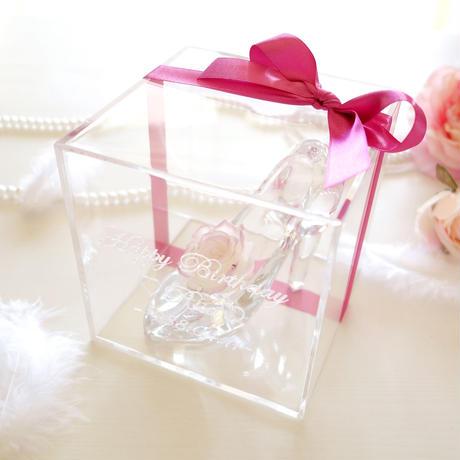 """《名入れギフト☆メッセージ刻印》message ROSE  """"Dearest"""" ☆大きいサイズ☆ふんわりカラーのローズが彩るシンデレラのガラスの靴"""