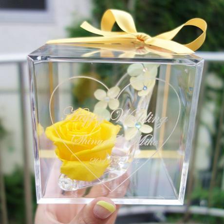 """《名入れギフト☆メッセージ刻印》message ROSE """"vitamin"""" 小さなシンデレラのガラスの靴"""