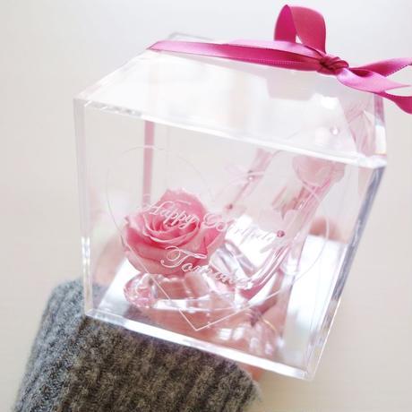 """《名入れギフト☆メッセージ刻印》message ROSE """"princess"""" 小さなシンデレラのガラスの靴"""
