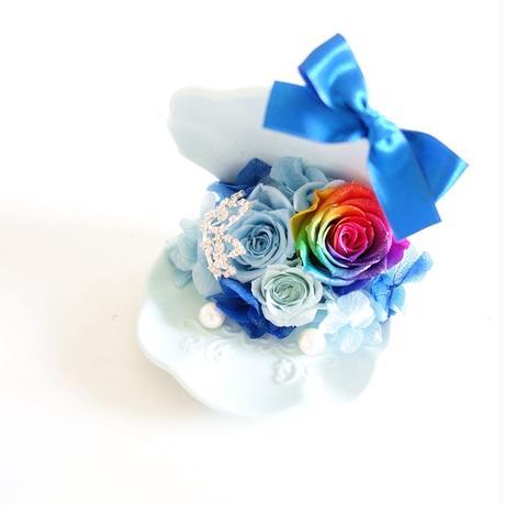 "DT's wedding  ""Happy Blue"" 海を想う虹色リングピロー"