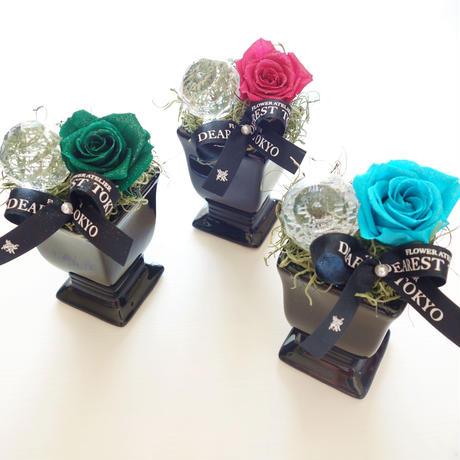 """Design Flower """"petit jewel"""" クリスタルストーンとバラの小さな贈り物【プチギフト】"""