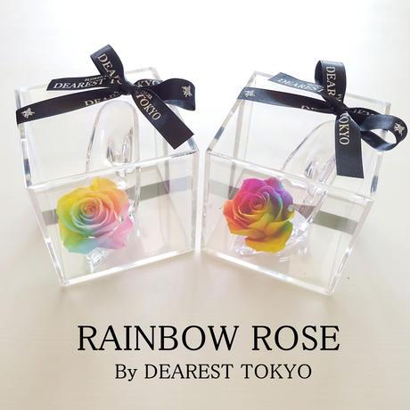 "RAINBOW FLOWER ""Parfum"" ☆2Color☆ レインボーローズが彩る小さなシンデレラのガラスの靴"