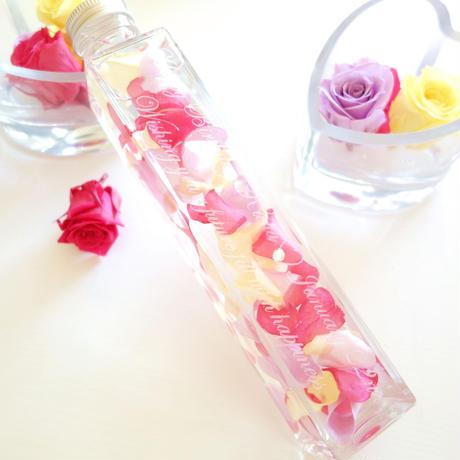 """《名入れギフト☆メッセージ刻印》Herbarium """"Secret roses""""(Candy) バラの花びらの贅沢なハーバリウム"""