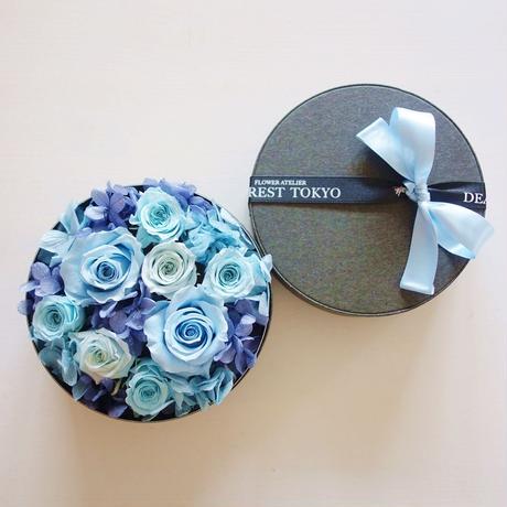 """LUXURY BOX  """"Bluette des Fleurettes """"(BLUE)花畑のようなフラワーボックス"""