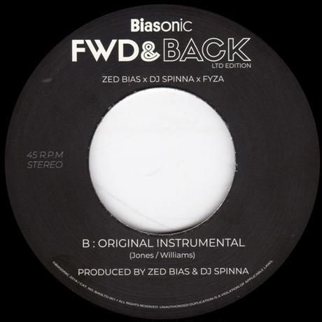 """(7"""") Zed Bias, DJ Spinna & Fyza / Fwd & Back   <breakbeats / house / soul>"""