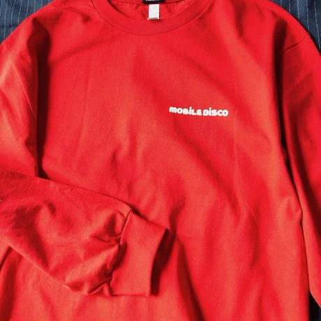 (Long Sleeve T-shirts) mobiledisco SICKHOUSE - RED -