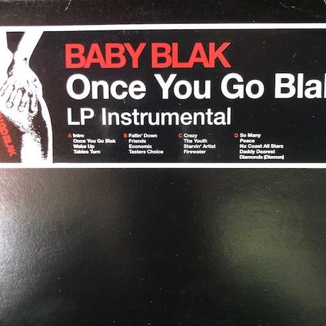 (2LP/ USED) Baby Blak ‎/ Once You Go Blak Instrumentals    <hiphop / breakbeats>