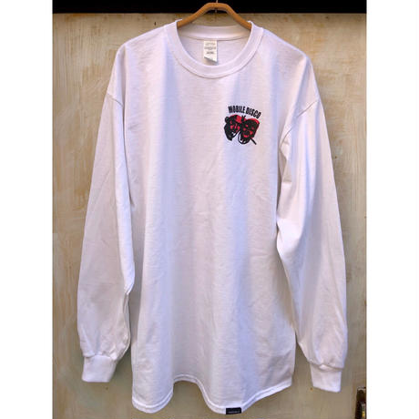 (Long T-shirts) mobbile deepsco  Long sleeve Tee  White  -M / L / X L -