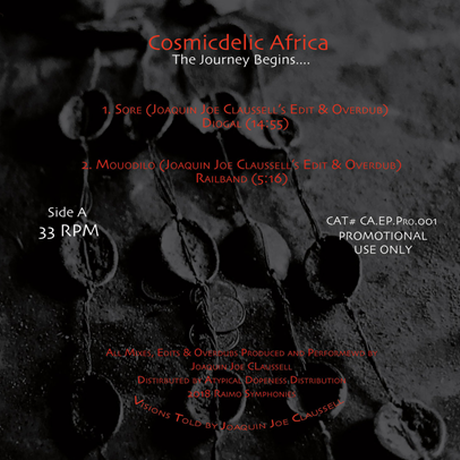 """(12"""") JOAQUIN JOE CLAUSSELL / COSMICDELIC AFRICA   <afro / house / edit>"""