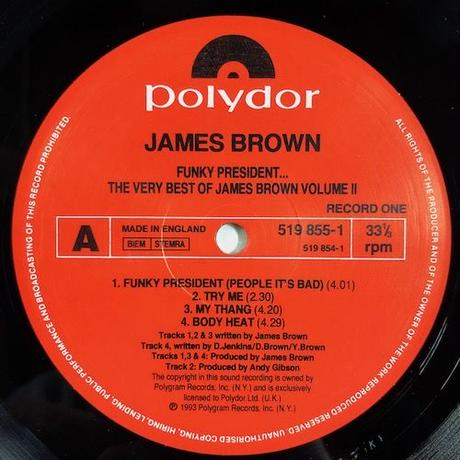 (2LP/ USED) JAMES BROWN / Funky President The Best of JB vol.2 <Funk / Soul>