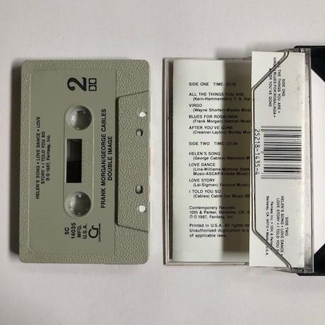 (TAPE / USED) Frank Morgan - George Cables / Double Image  <jazz / SAX - PIANO>