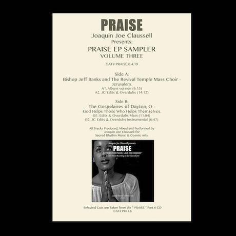 """(12"""") Joaquin Joe Claussell / Praise EP Sampler Part.3  <house / soul / gospel>"""