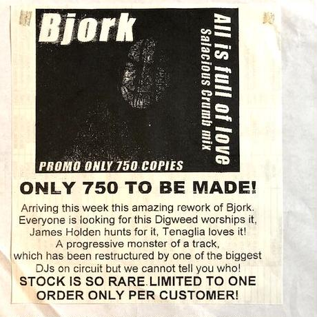 "(12""/ USED) Bjork / All is full of love (Salacious Crumb Remix)   <breaks / house>"