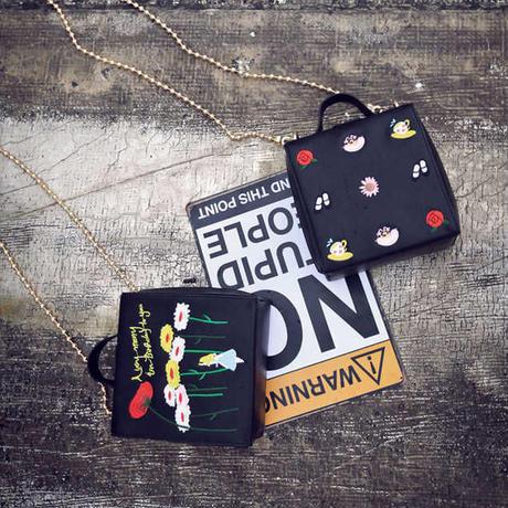 刺繍デザインバッグ