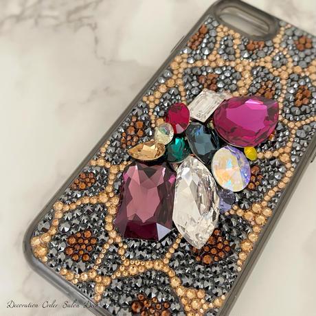 【即納】Big bijou×leopard iPhoneデコレーションケース