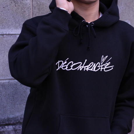 描生 × Décontracté Hoodie C/# BLACK