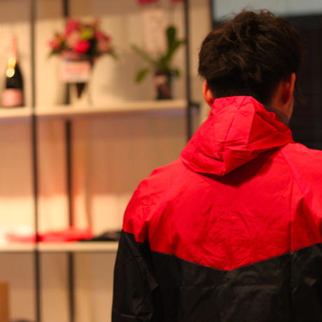 Nylon JKT 17021 C/# NAVY×RED