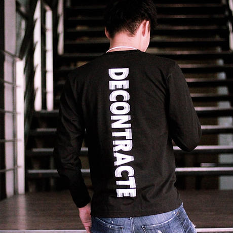 D19015《Back Purinto L Tshirt》 C/# BLACK