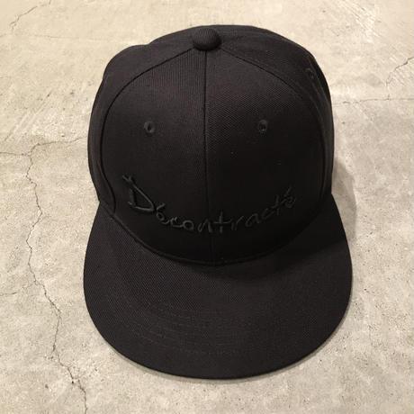 D18003《3D BB CAP》C/# BLK×BLK