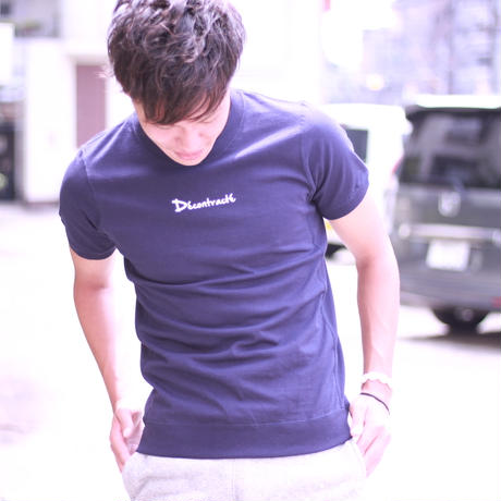 D18012《Simple Side Panel T shirt》C/# NAVY