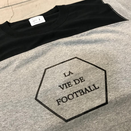 D18011《Football T shirt 7.1oz》C/# BLK×GRY